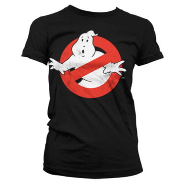 Ghostbusters Distressed Logo Girly T-Shirt Dame Ghostbusters