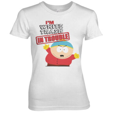 South Park I´m White Trash In Trouble Girly Tee Dame Comedy Central