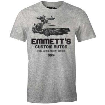 BACK TO THE FUTURE T-SHIRT – EMMETT'S CUSTOM AUTOS Herre Back to the future