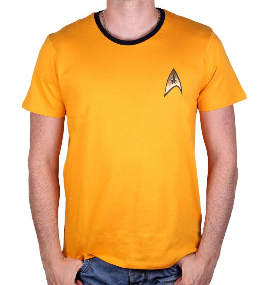 STAR TREK T-SHIRT - COSTUME KIRK YELLOW thumbnail