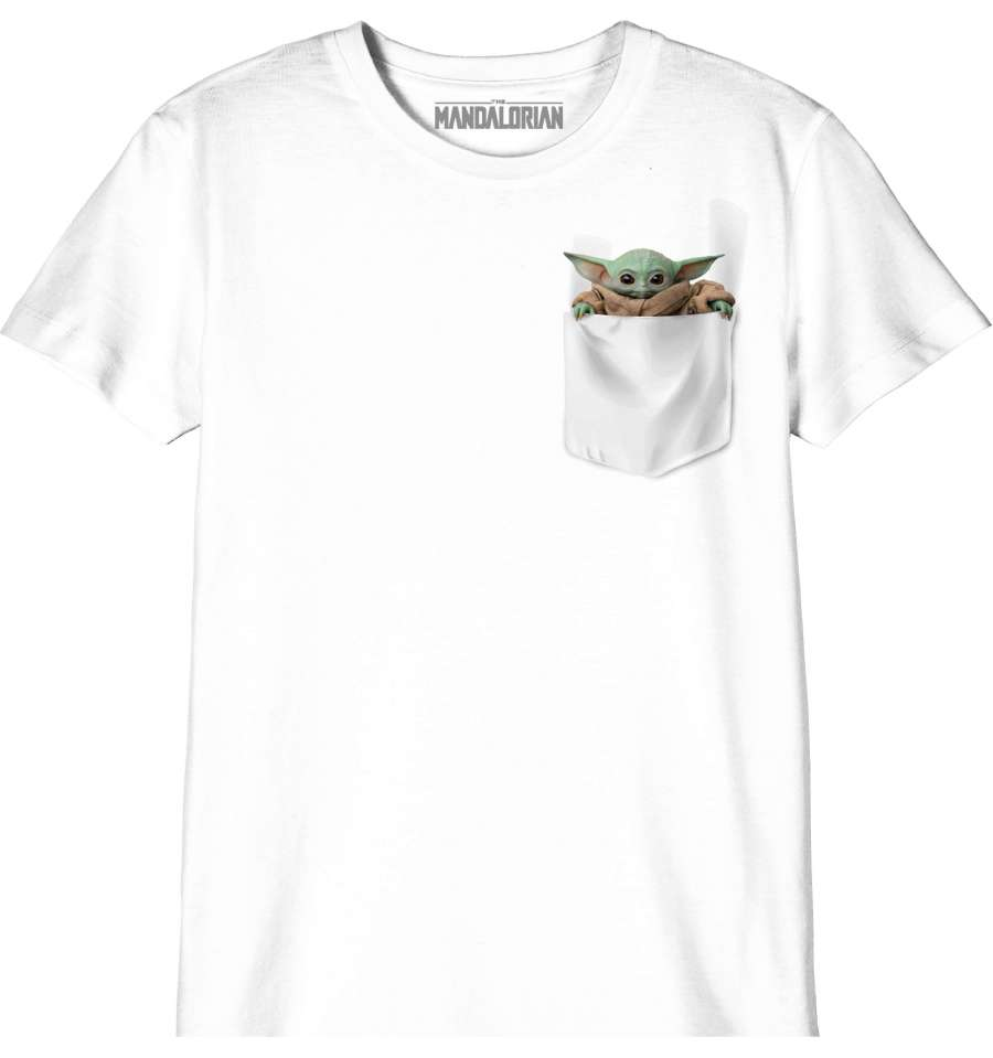 STAR WARS THE MANDALORIAN KID'S T-SHIRT - BABY YODA POCKET thumbnail