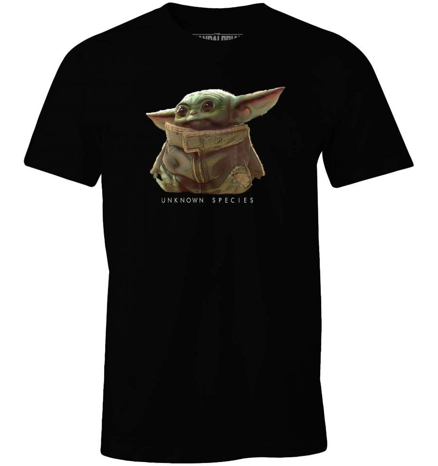 STAR WARS THE MANDALORIAN T-SHIRT - BABY YODA UNKOWN SPECIES thumbnail