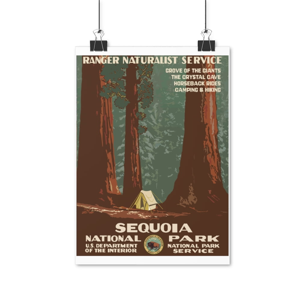 Plakat Sequoia National Park Retro Look thumbnail