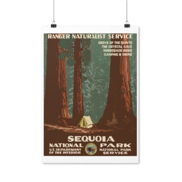 Plakat Sequoia National Park Retro Look PBO Collection