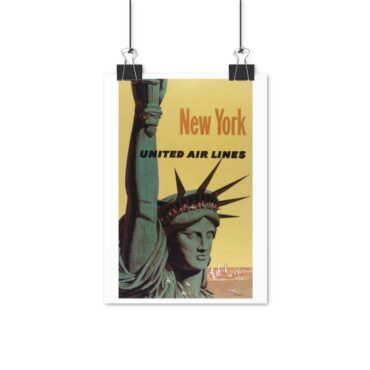 Plakat New York United Air lines PBO Collection