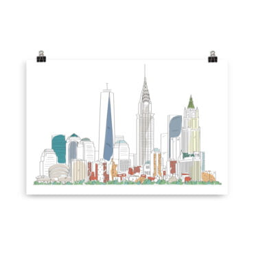 """Plakat New York """"Simple by PBO"""" PBO Collection Atombombe"""