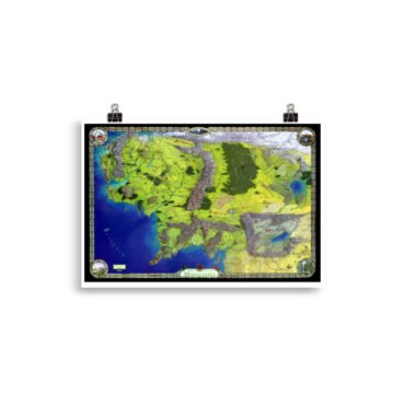 Plakat Middle Earth Map PBO Collection