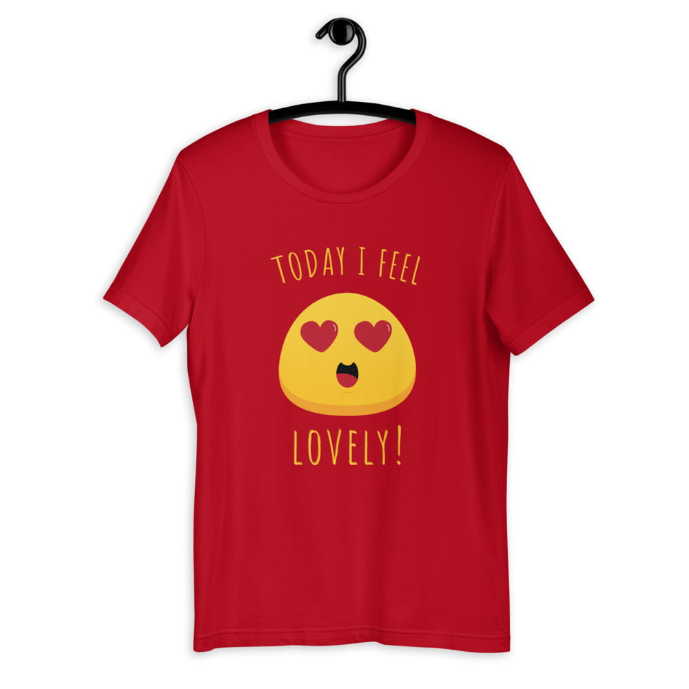 Unisex t-shirt PBO smiley serie: Lovely thumbnail