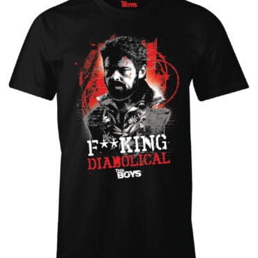 THE BOYS T-SHIRT – F**KING DIABOLICAL Herre Amazon Prime Video