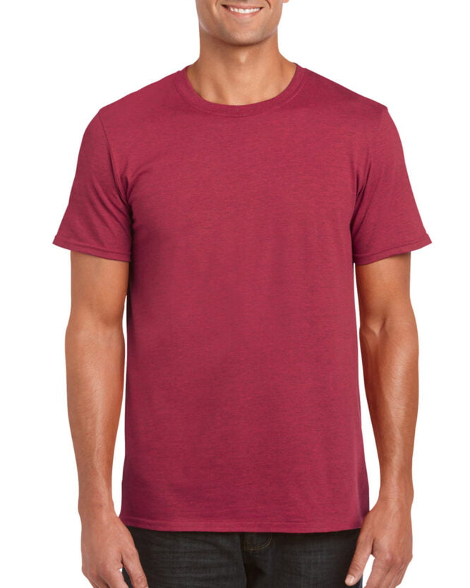 64000 Adult T Shirt Antique Cherry Red