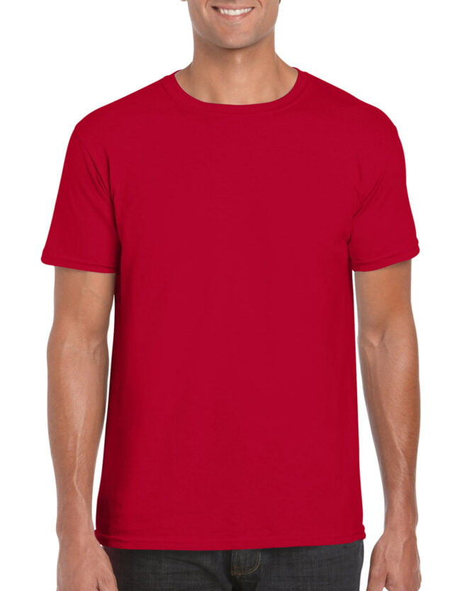 64000 Adult T Shirt Cherry Red