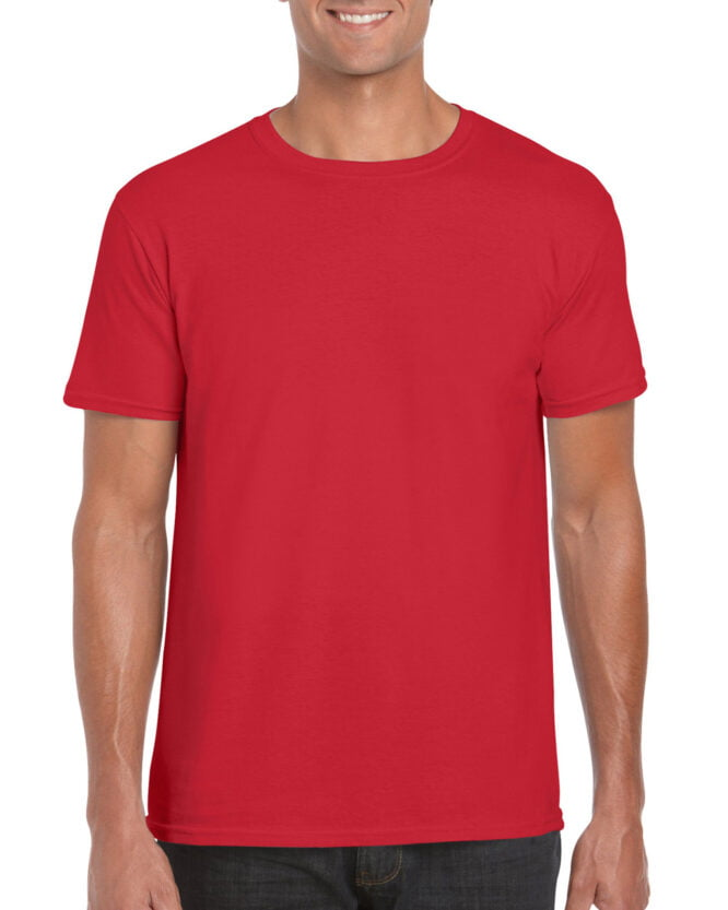 64000 Adult T Shirt Red