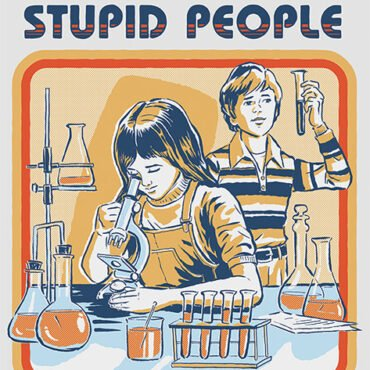 STEVEN RHODES LETS FIND A CURE FOR STUPID PEOPLE PLAKAT Accessories Licenseret